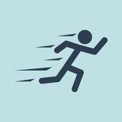 Icon of Runner. EPS-10.