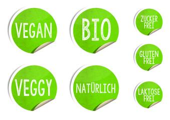 Vegan Sticker für Produkte