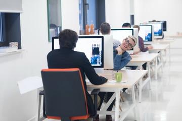 startup business, woman  working on desktop computer