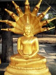 Golden Nacprk Buddha Statue