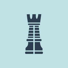 Icon of Chess Rook. EPS-10.