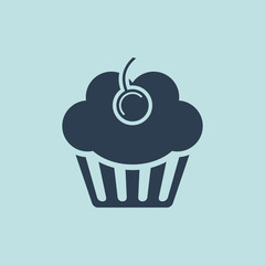 Icon of  Muffins Or Cup cake. EPS-10.