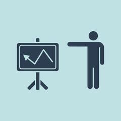 Icon Of Training Presentation. EPS 10