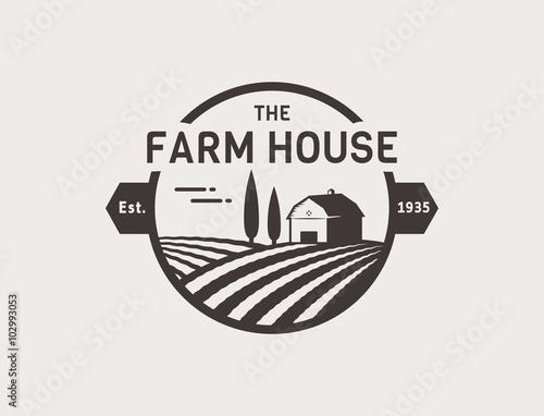 Farm House vector logo.