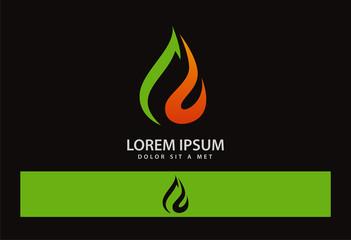 Ecology logo Fire Leaf Logo