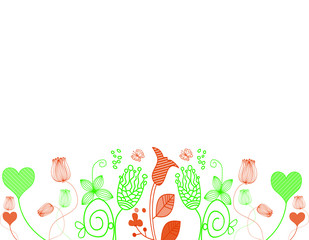 Beautiful floral background. Natural, sunny background. Spring background. Summer background. Background for design. Romance background