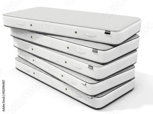 3d white mattress stack photo libre de droits sur la banque d 39 images image 102996487. Black Bedroom Furniture Sets. Home Design Ideas