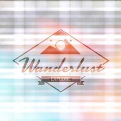 Composite image of wanderlust word