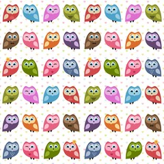 Background with owls and owlets