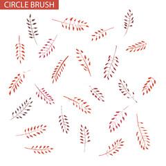 Capsella floral vector circular brush