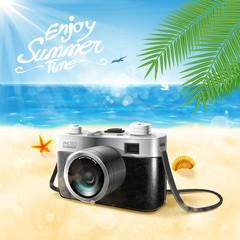 camera summer beach