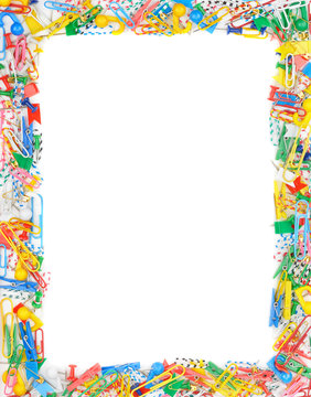 Frame of office supplies