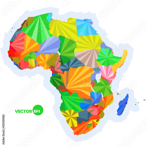 map of Africa concept map with countries Colorful Africa map