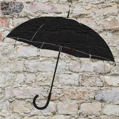 Dessin d'un parapluie sur un mur