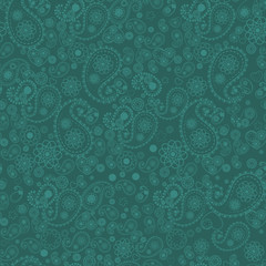 Seamless paisley pattern. Vector background