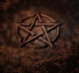 Pentagramm Glühen Metall