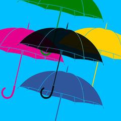 Parapluies pop art