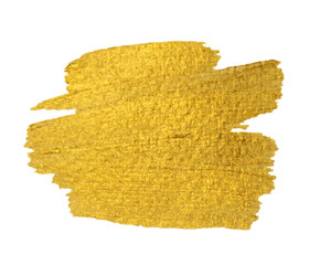 Gold Texture. Brush stroke vector design element.