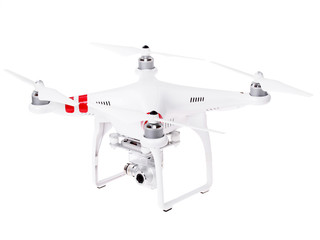 Drone quadrocopter  Phantom  Professional with high resolution digital camera. New tool for aerial photo and video.