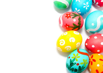 Perfect colorful handmade easter eggs
