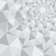 Abstract polygonal background in grey colors