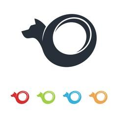 Tire Logo, Dog Tire Design Vector Logo Template