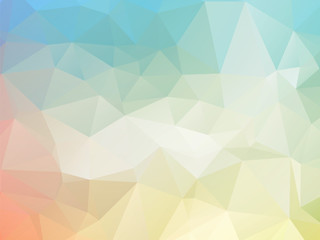 low poly pastel background