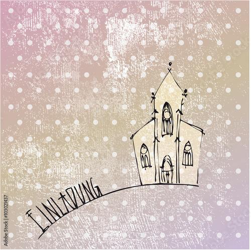 einladung in die kirche - trauung, hochzeit, heirat, zeremonie, Einladung