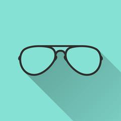 Glasses - vector icon.
