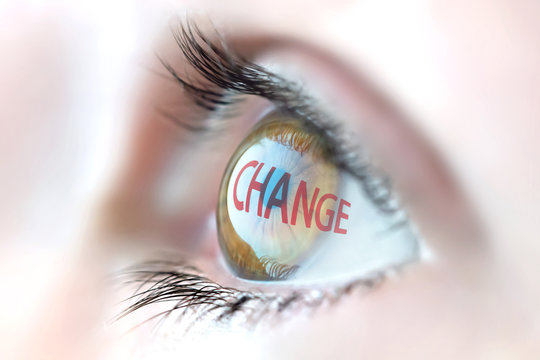 Change reflection in eye.