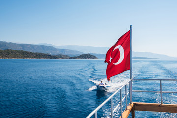 Turkish Flag from yacht
