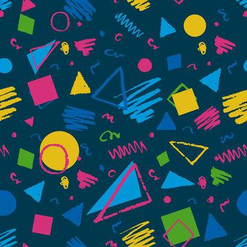 Dark blue geometric pattern