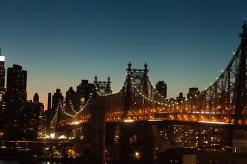 Queensboro Bridge at twilight in New York City