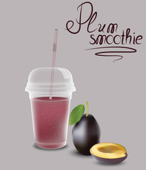 Plum smoothie for your design