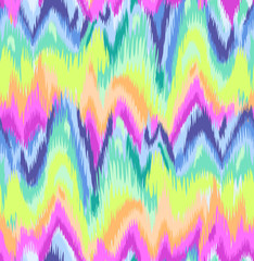 Cute Rainbow Ikat chevron print ~ seamless background