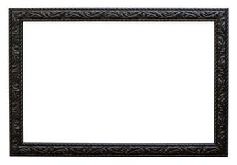 Eleganter und ausgefallener Bilderrahmen in schwarz Querformat