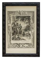 Antiker Kupferstich – Griechische Sage – Jason