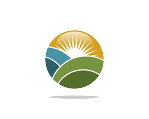 Sun and Field Agriculture Logo Template 2
