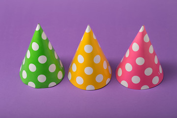 Three party hats