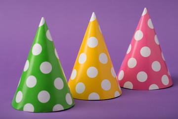 Three party hats