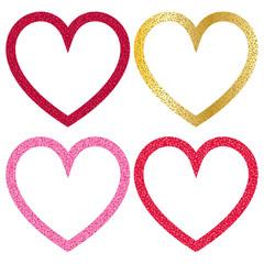 glitter heart frames