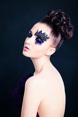 Beautiful Woman with Art Makeup