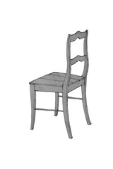 hand drawing of wooden chair