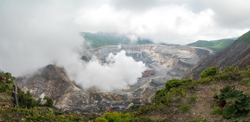 Volcano Poas in the near of San Jose