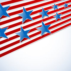 abstract background with blue stars and red stripes. vector