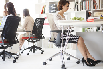 Women are the paper work in the office