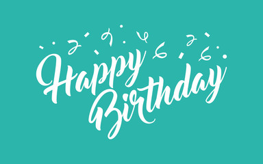 Birthday hand lettering calligraphy