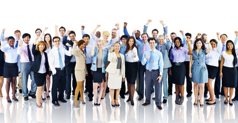 Fototapeta Crowd Business People Celebration Success Team Concept