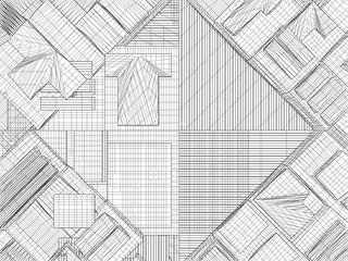 Urban City Of Skyscrapers Vector