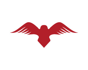 Bird wings logo